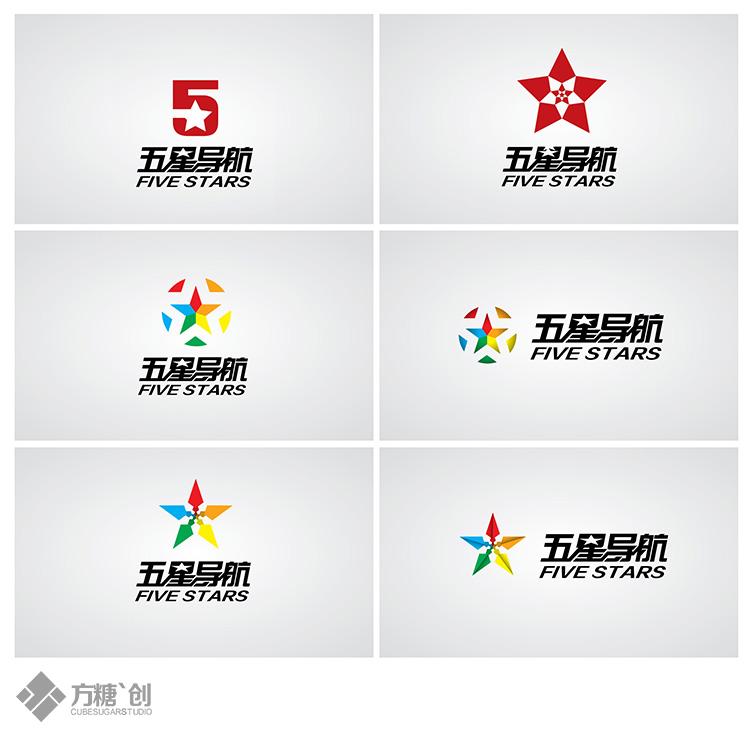 五星导航`logo-品牌设计-方糖